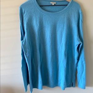 Talbots Woman Lightweight Blue Sweater